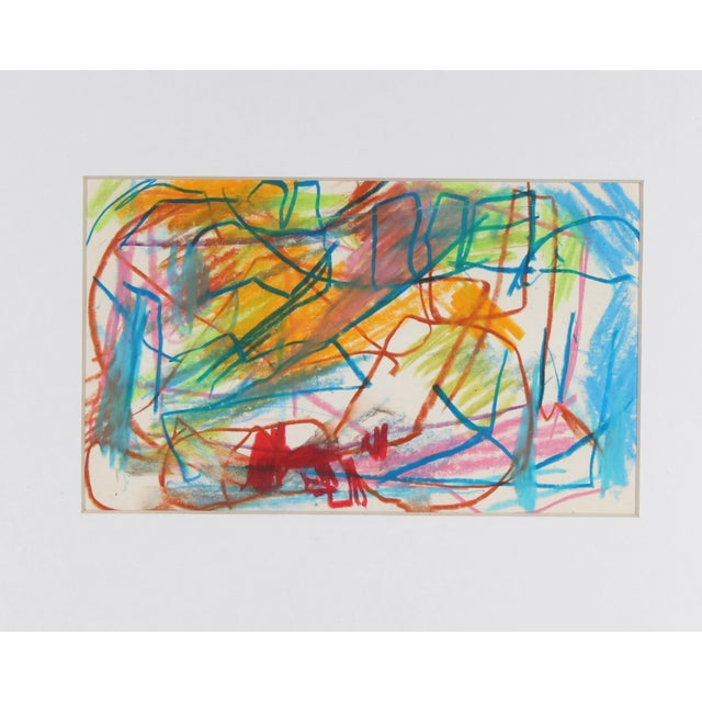 An oil pastel on paper drawing by American artist Paul Chidlaw (1900-1989). This vibrant and energetic drawing bears a...