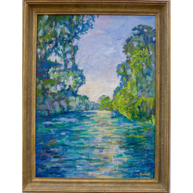 Giverny River After Monet Painting - Image 1 of 3