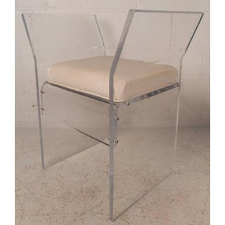 Mid-Century Modern Vinyl and Lucite Bench Preview