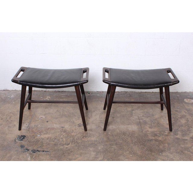 Pair of Ap-30 Piano Stools by Hans Wegner For Sale - Image 13 of 13