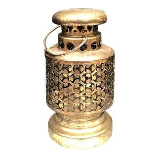 Mid Century Brass Hanging Lantern For Sale