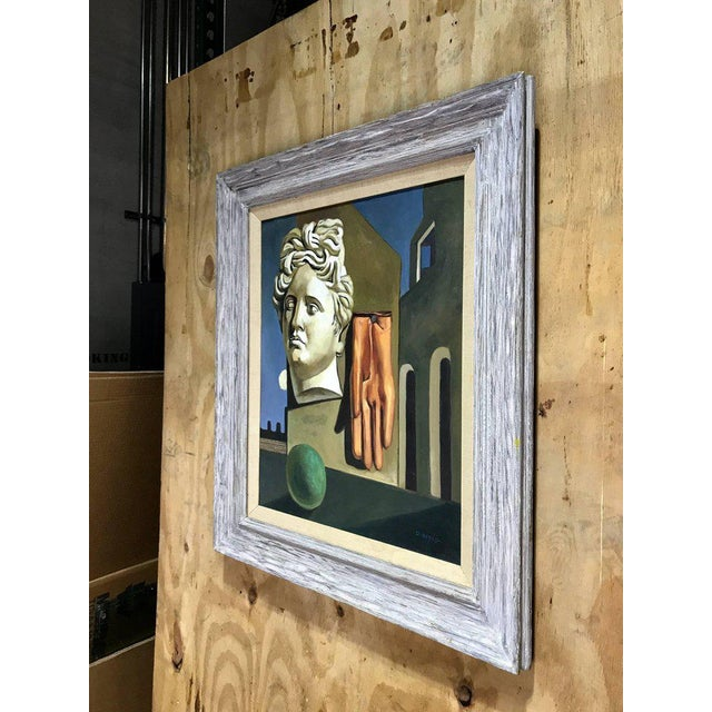 "Blue After Gorgio De Chirico ""The Song of Love"" For Sale - Image 8 of 10"