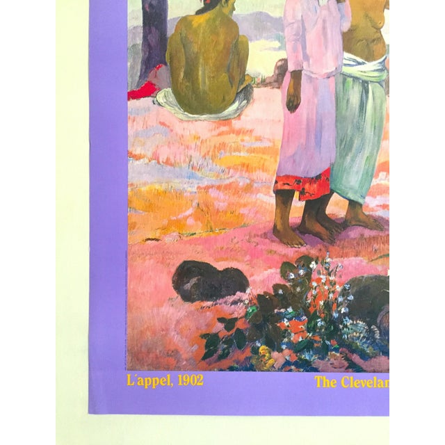"""Paul Gauguin Vintage 1989 Post Impressionist Lithograph Print Museum Poster """" l'Appel """" 1902 For Sale In Kansas City - Image 6 of 13"""
