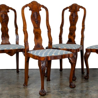 Late 19th Century Antique Queen Anne Style Chairs - Set of 4 Preview