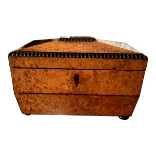 Antique English Tea Caddy For Sale