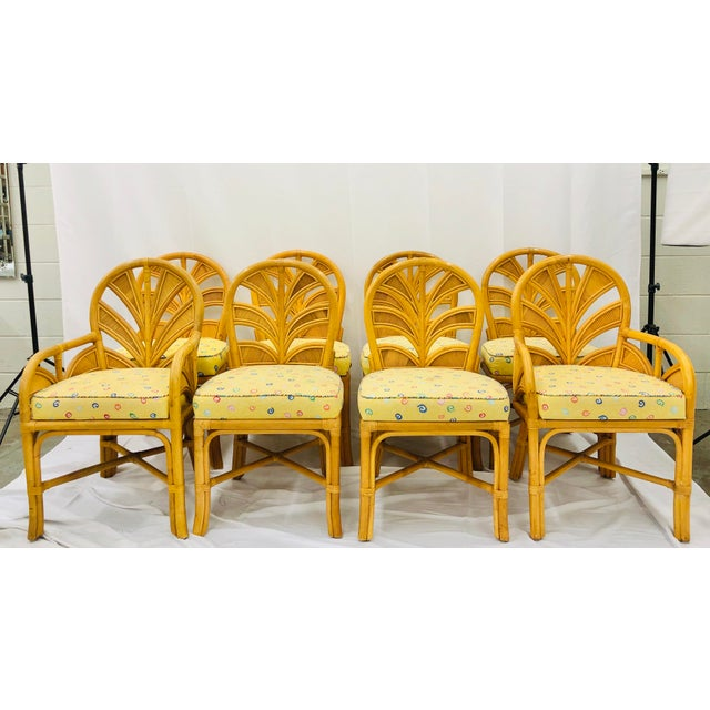 Ficks Reed Set of Eight Vintage Bent Rattan Chairs For Sale - Image 4 of 11