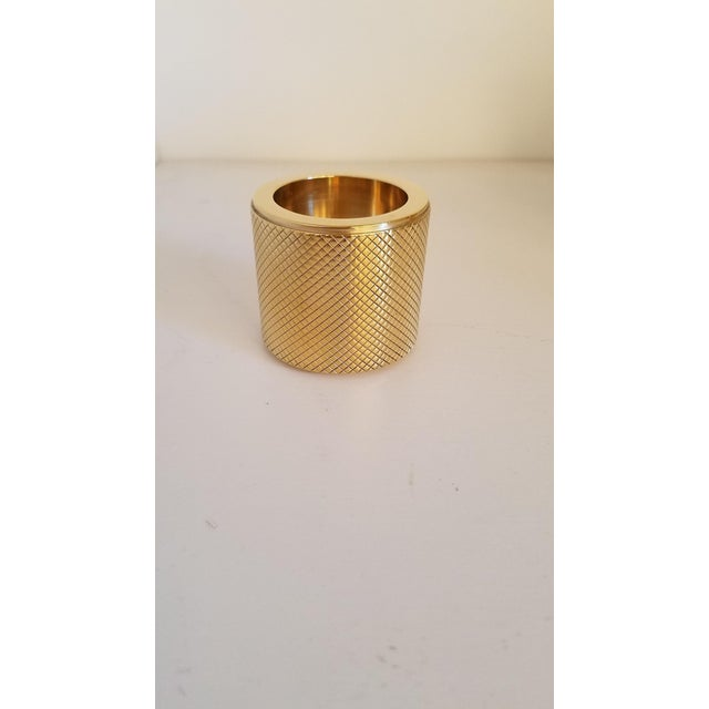 Brass Candleholders by Le Lampade - Set of 3 For Sale - Image 4 of 9