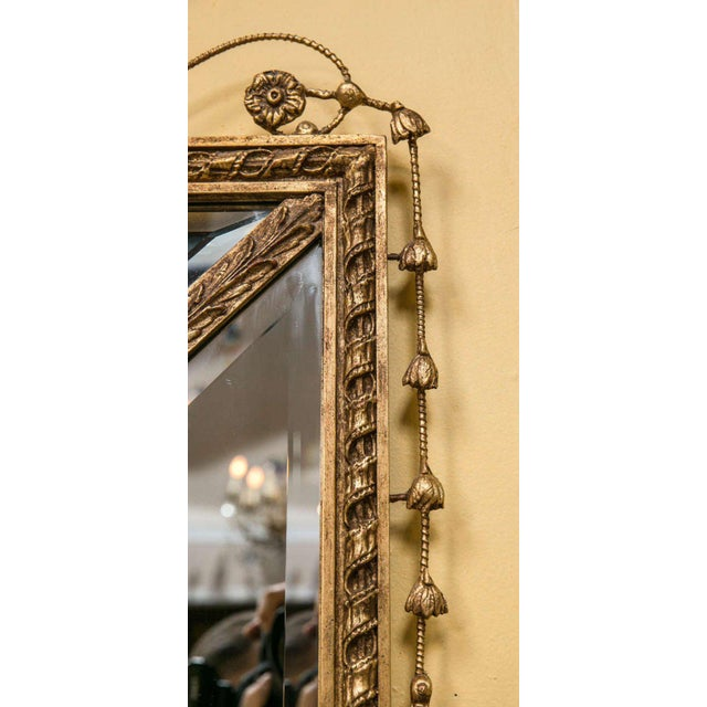 Glass Adams Style Beveled Mirror in Finely Carved Frame For Sale - Image 7 of 11