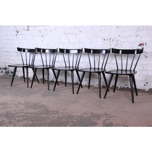 Paul McCobb Ebonized Planner Group Dining Chairs - Set of 10 For Sale In South Bend - Image 6 of 13