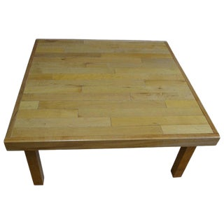 Coffee Table of Maple Flooring Reclaimed From Gym For Sale