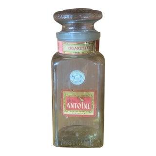 Antique Belgium Antoine Cigarette Jar For Sale