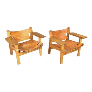 Pair of Spanish Chairs by Børge Mogensen for Fredericia Furniture For Sale