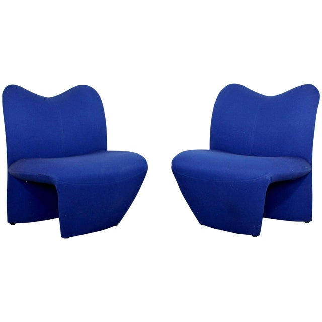Mid-Century Modern Pair of Sculpted Accent Chairs Paulin Panton Style Italian For Sale - Image 9 of 9