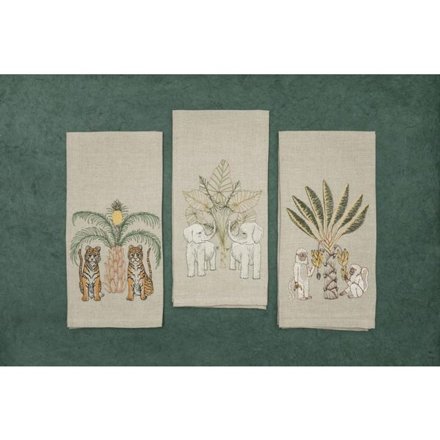 French Monkeys With Banana Tree Tea Tow For Sale - Image 3 of 5