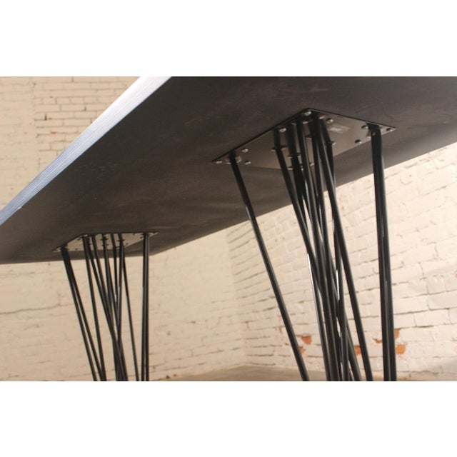 Blue Marquette Double Pedestal Table - Image 6 of 7