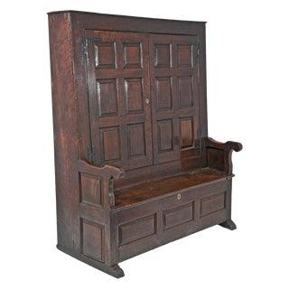 Circa 1720 George II Period Oak Bacon Settle For Sale