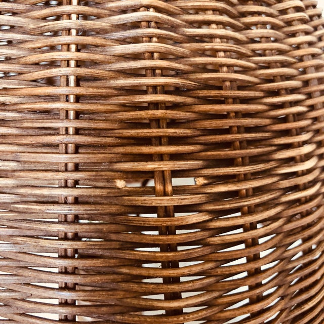 Wicker Vintage Wicker Table Lamp For Sale - Image 7 of 8