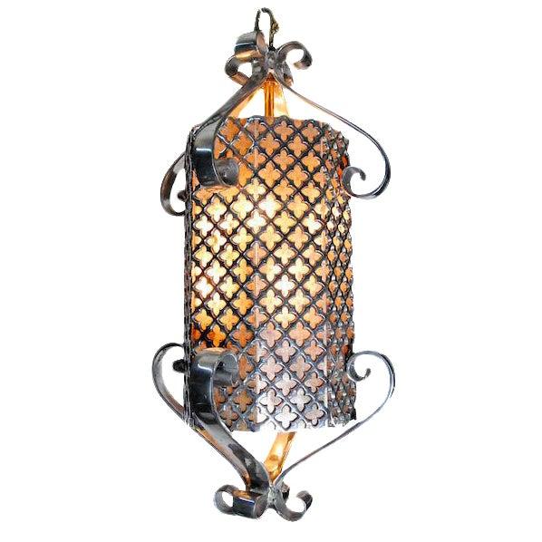1960's Regency Polished Aluminium Lamp For Sale