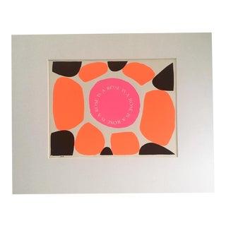 "Vintage Sister Corita Pop Modernist ""Rose"" Print"