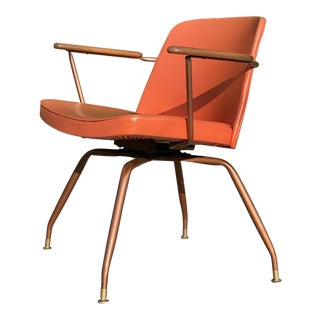 Mid Century Modern Swivel Chair by Viko Baumritter For Sale