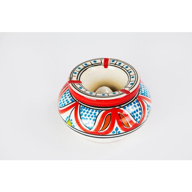 Moroccan Atlas Multicolored Ceramic Ashtray - Image 2 of 3