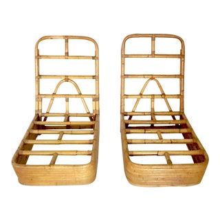 1940's Art Deco Paul Frankl Slipper Chairs - A Pair