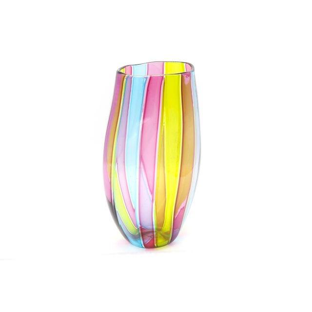 1970s Italian Mid Century Multi Colored Vase For Sale - Image 5 of 6
