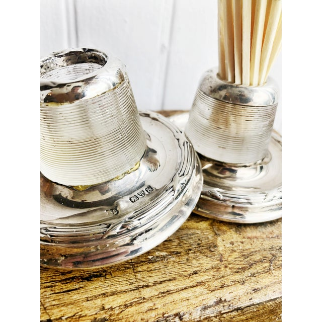 Silver Antique English Sterling Silver and Glass Match Strikers - a Pair For Sale - Image 8 of 10