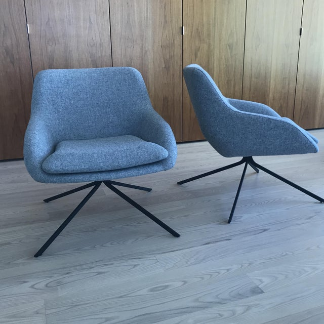 Palau Blue Swivel Chairs - A Pair - Image 7 of 8