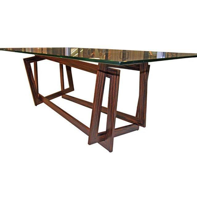 "Brown Raniero Aureli's Custom ""Soqquadro"" Table For Sale - Image 8 of 8"