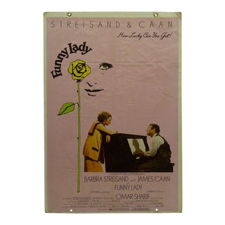 "Original ""Funny Lady"" Starring Barbara Streisand & James Caan Foam Core Mounted Movie Poster For Sale"