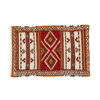 Berber Rug - Diamond-Like Design in Handwoven Wool For Sale