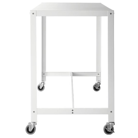 Contemporary CB2 Go-Cart White Rolling Desk For Sale - Image 3 of 3