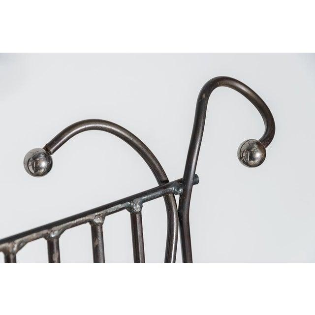 Italian Hand Made Modern Metal Chair Rare For Sale - Image 4 of 13