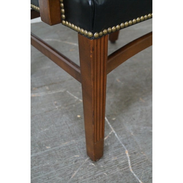 Gunlocke Traditional Black Office Arm Chairs - A Pair - Image 10 of 10
