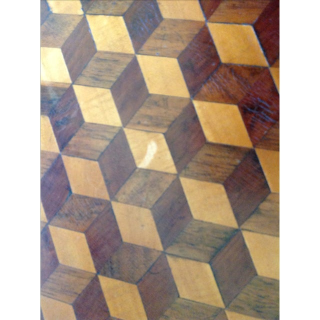 Intricately Detailed Parquet Antique Round Table - Image 11 of 11