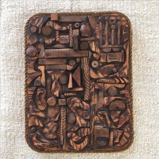 Wood Mosaic Collage Sculpture Paula Randall 1974 - Image 2 of 7