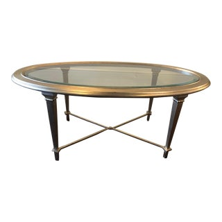 Hickory Chair Oval Silver Leaf Coffee Table For Sale