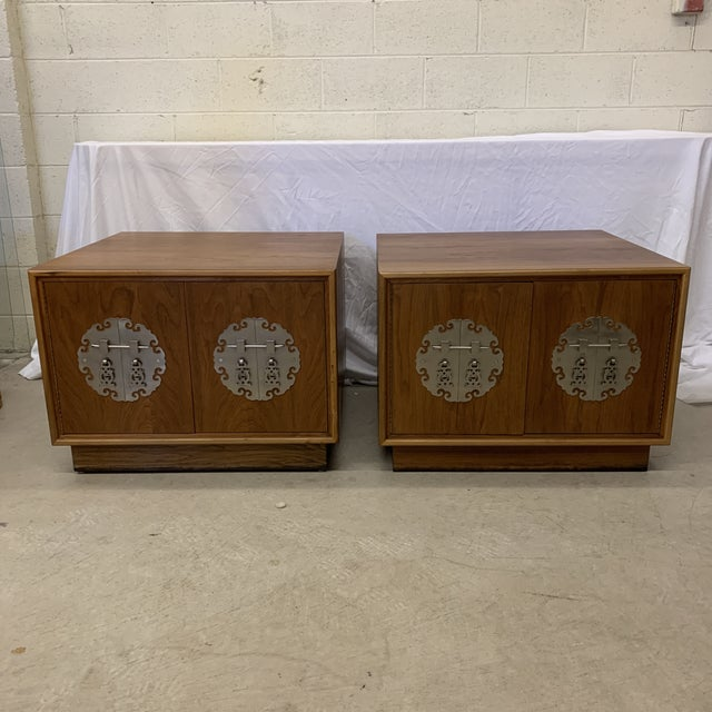 Solid Walnut Asian Chest End Tables -A Pair For Sale - Image 11 of 11