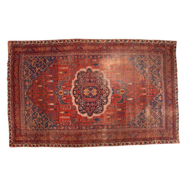 "Antique Bijar Carpet - 7'6"" X 11'10"" - Image 1 of 7"