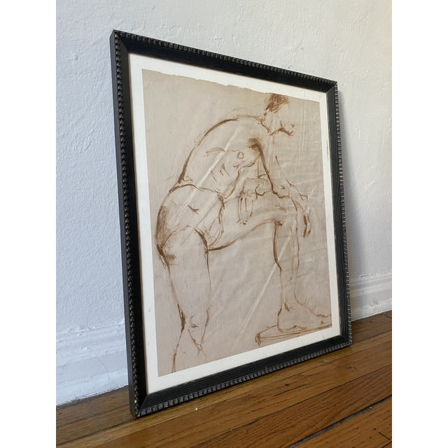 Figurative Nude Male Painting Attributed to Helen Beling For Sale - Image 3 of 7