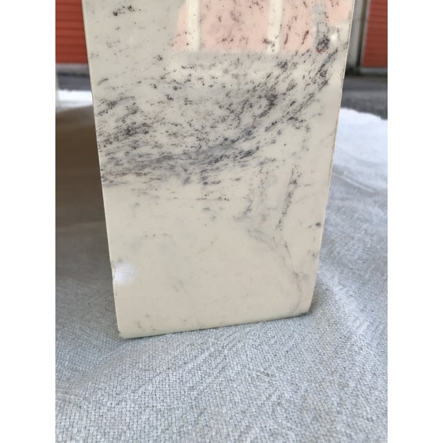 Vintage Postmodern Geometric Shaped Marble Coffee Table For Sale - Image 10 of 13