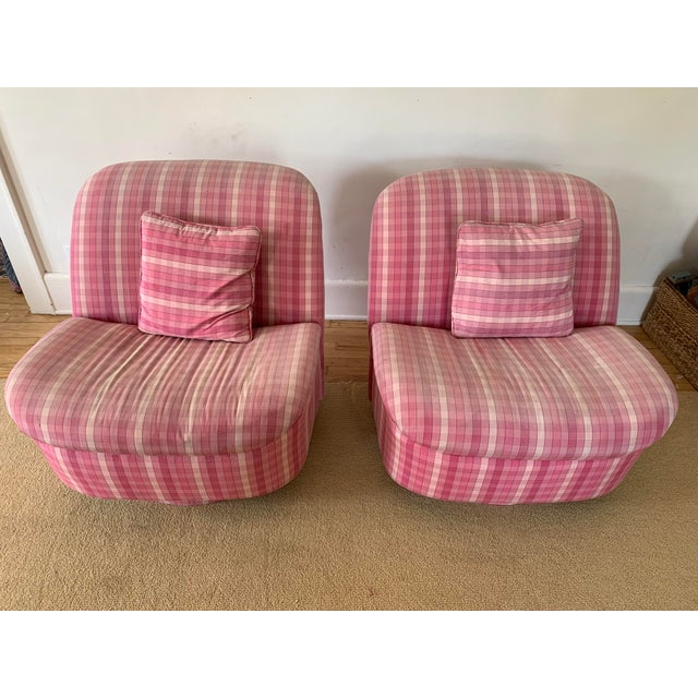 Blush Directional Furniture Clamshell Chair - A Pair For Sale - Image 8 of 9