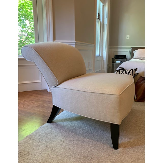 Traditional Traditional Todd Hase Govida Mohair Amelia Slipper Chairs - a Pair For Sale - Image 3 of 8