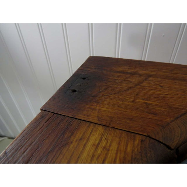 Antique Oak Potty Chair Planter - Image 9 of 10