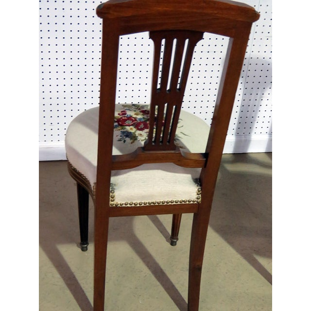 Pair of Directoire Style Slipper Chairs For Sale In Philadelphia - Image 6 of 8