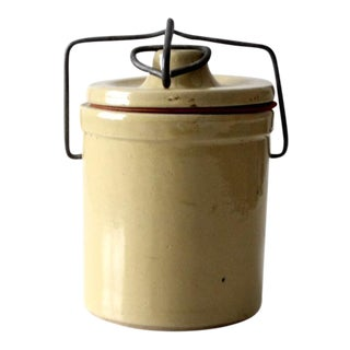 Vintage Stoneware Ball Lock Jar