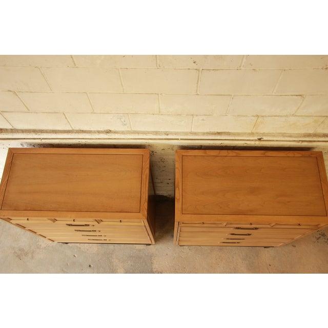 Merton Gershun Chinoiserie Highboy Dressers - Pair - Image 4 of 10