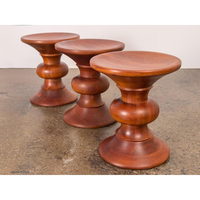 Abstract Vintage Eames Time Life Stools - Set of 3 For Sale - Image 3 of 11