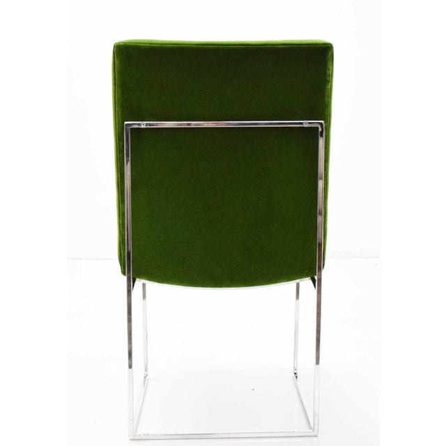 1970s Vintage Milo Baughman Dining Chairs in Italian Velvet - Set of 8 For Sale In Dallas - Image 6 of 11